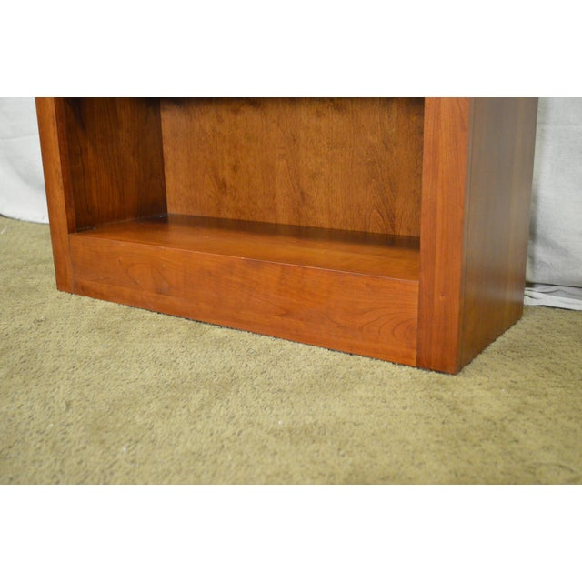 Ethan Allen American Impressions Solid Cherry Open Bookcases - A Pair For Sale - Image 5 of 10