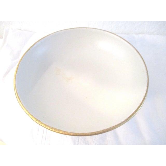 Gold Danish Modern White & Gold Vase & Bowl For Sale - Image 8 of 10