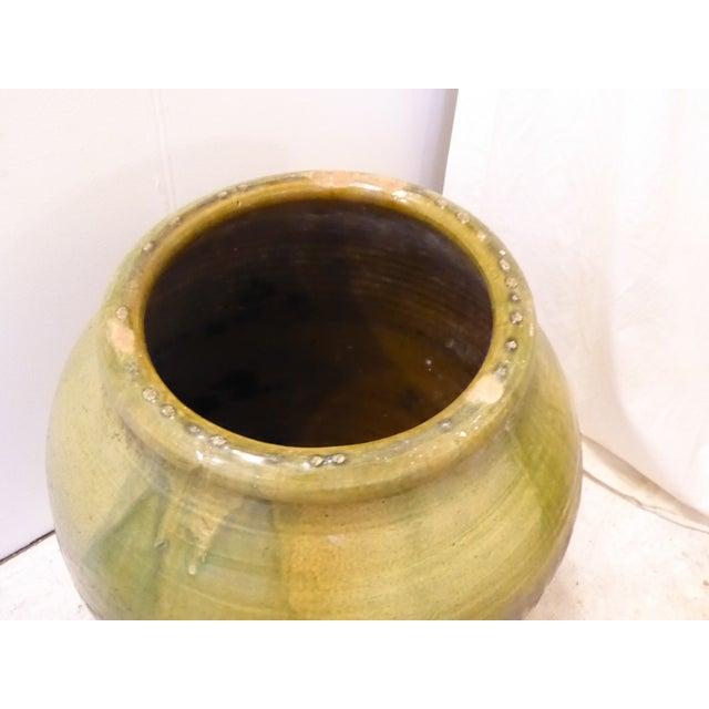 Vintage Large Glazed Green Spanish Urn For Sale In Boston - Image 6 of 7
