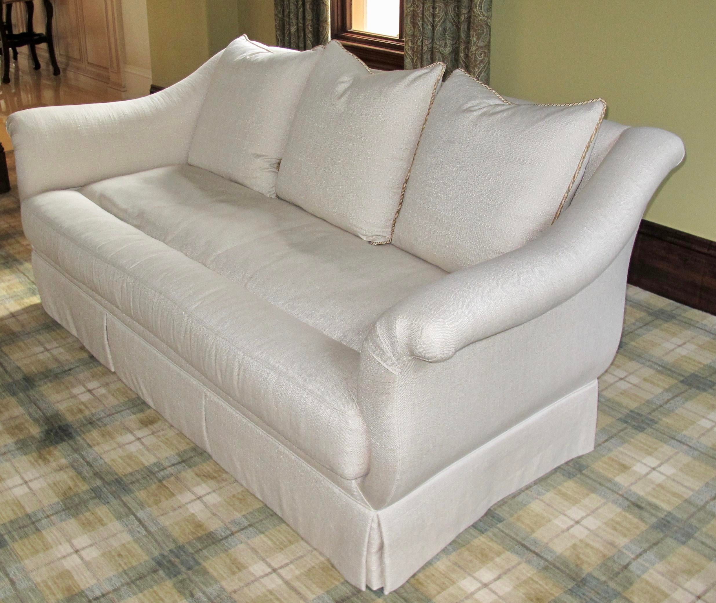 Ferguson Copeland Neutral Sofa For Sale In West Palm Image 6 Of 7