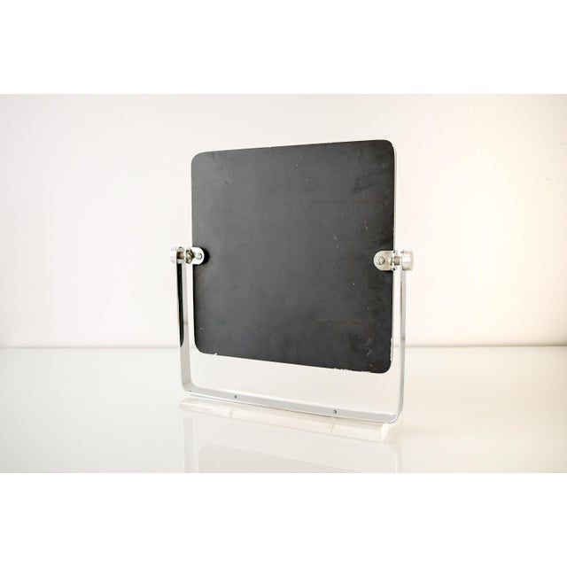 Mid Century Chrome and Lucite Adjustable Tabletop Mirror For Sale - Image 10 of 10