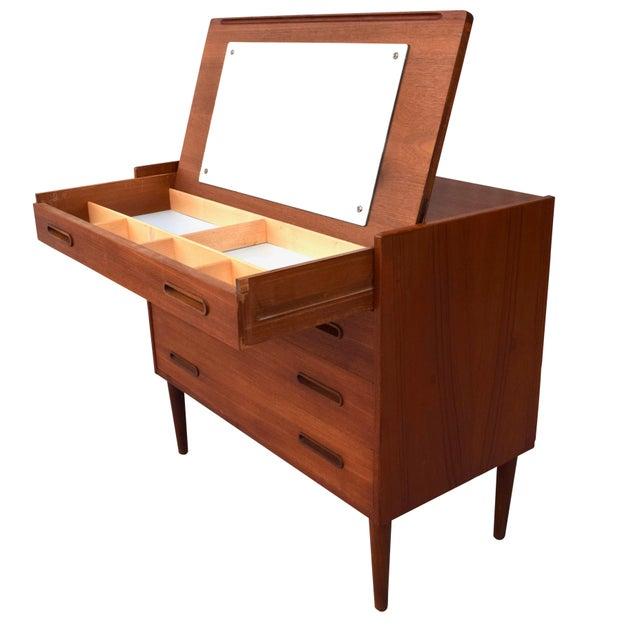 Danish Modern Teak Vanity Dresser For Sale - Image 10 of 10
