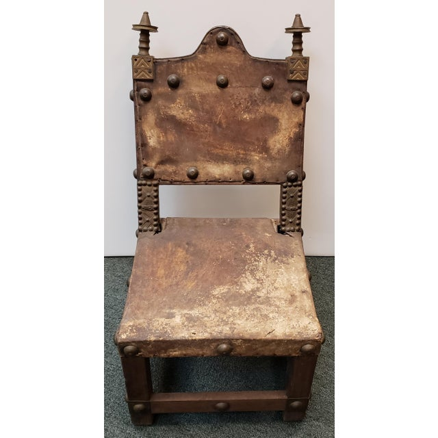 "Up for sale is a Late 19th Century Ashanti Asipim Royal Court Chair from Ghana! It measures 23 5/8"" tall to its tallest..."