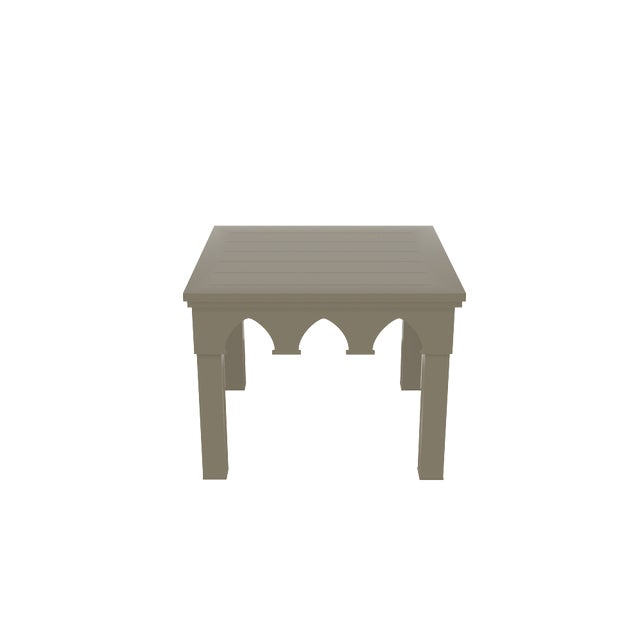 Oomph Oomph Ocean Drive Outdoor Side Table, Taupe For Sale - Image 4 of 5