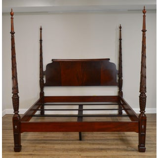 Ethan Allen King Size Laurel Mahogany Poster Bed Preview