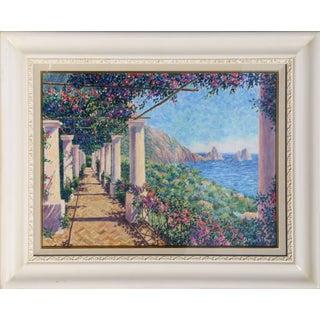 "Diane Monet, ""Vista Firaglioni"", Impressionist Landscape Painting For Sale"