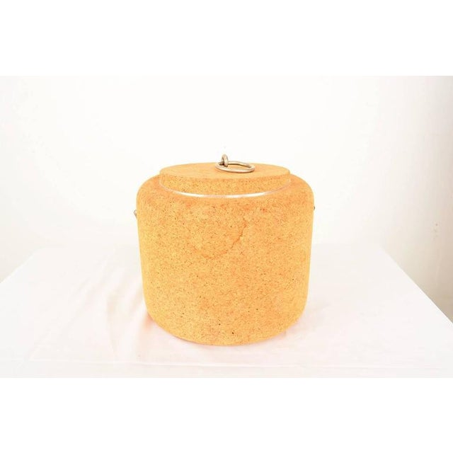 Tan 1970s Cork Ice Bucket by Signe Persson Melin for Boda Nova Sweden, Midcentury For Sale - Image 8 of 8