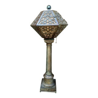 1920's American Arts & Crafts Movement Bronze Table Lamp