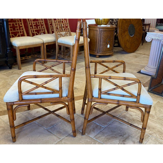 Wood McGuire Style Bamboo Dining Chairs - Set of 8 For Sale - Image 7 of 13