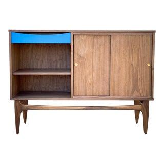 1960's Mid-Century Modern Handmade Walnut Credenza For Sale
