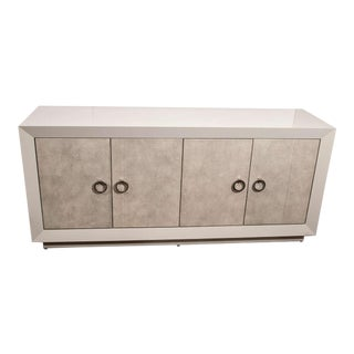 Custom Lacquer and Faux Shagreen Sideboard For Sale
