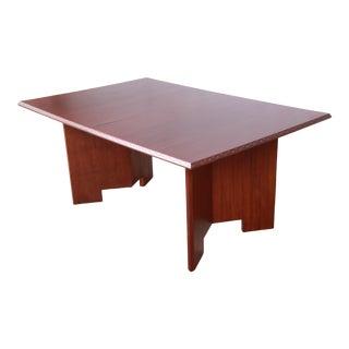 "Frank Lloyd Wright ""Taliesin"" Mahogany Extension Dining Table, Newly Restored For Sale"