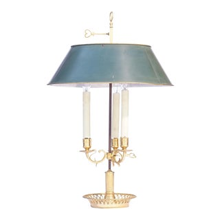 19th C. French Bronze Bouillotte Lamp For Sale
