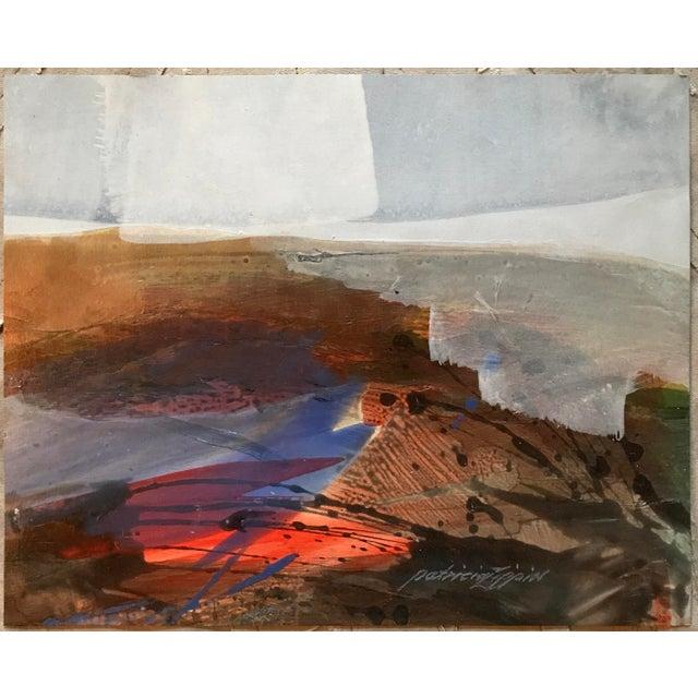 "Acrylic 1980s Mixed Media Bay Area Artist ""Beach Skyline"" For Sale - Image 7 of 7"