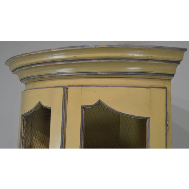 Paint French Country Style Corner Cabinet For Sale - Image 7 of 13