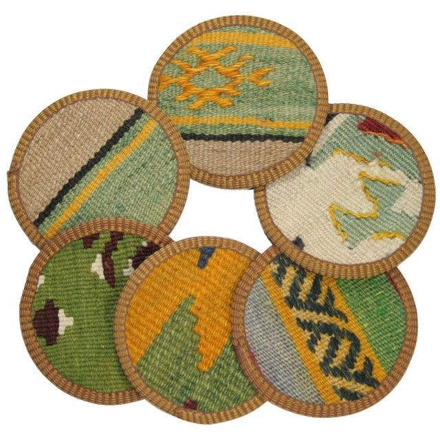 Evliya Kilim Coasters - Set of 6 - Image 1 of 2