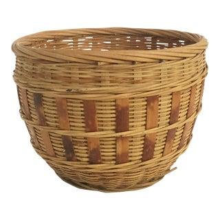 Small Vintage Plant Basket For Sale