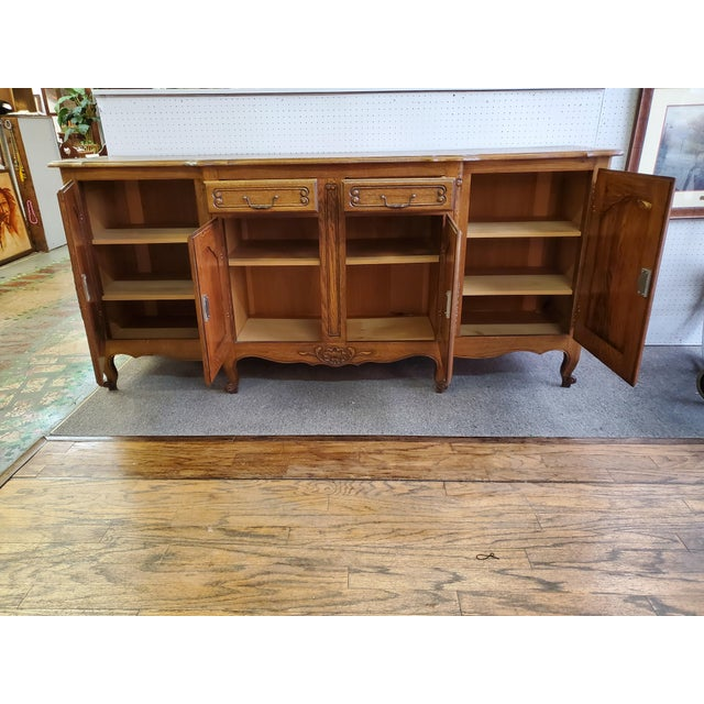 20th Century French Parquet Top Buffet/Sideboard For Sale In Houston - Image 6 of 12
