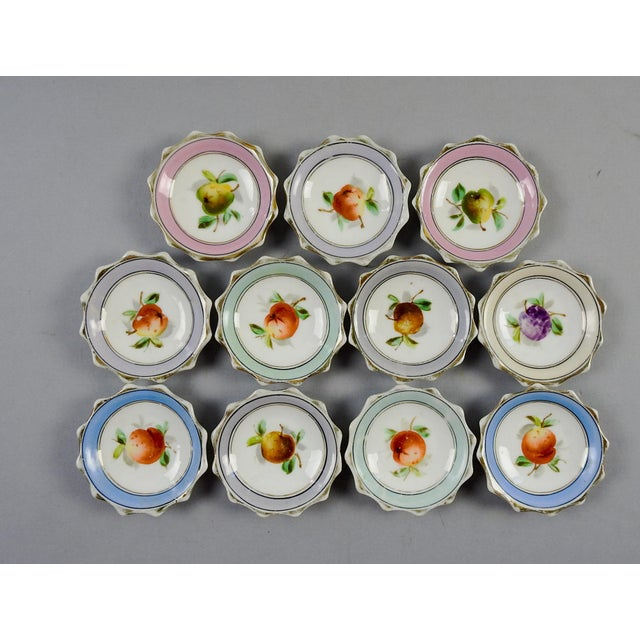 Porcelain Nut Candy Dishes Fruit Design - Set of 11 - Image 2 of 5