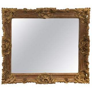 Gold Giltwood Mirror For Sale