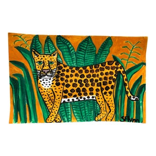 Cheetah in the Jungle Painting For Sale
