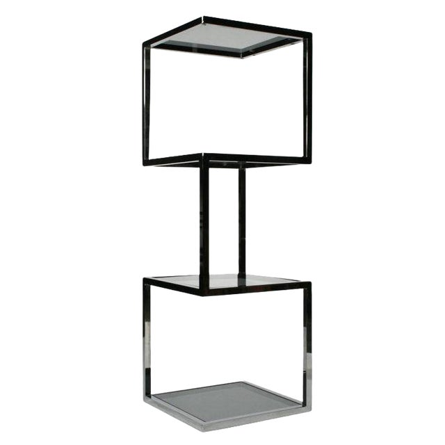 Asymmetrical Stacked Cubes Etagere after Milo Baughman - Set of 3 For Sale