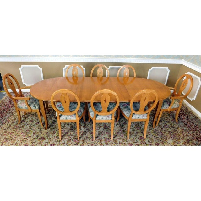 Ethan Allen Country Colors Wheat Dining Set - Image 3 of 11