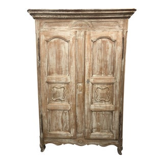 19th Century French Louis XV Stripped Armoire For Sale