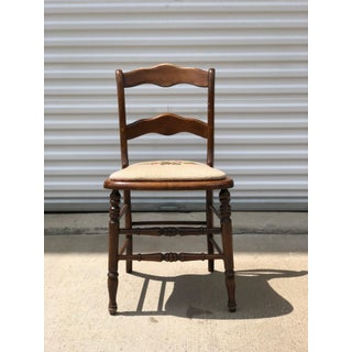 Early 20th Century Needlepointed Wood Chair Preview