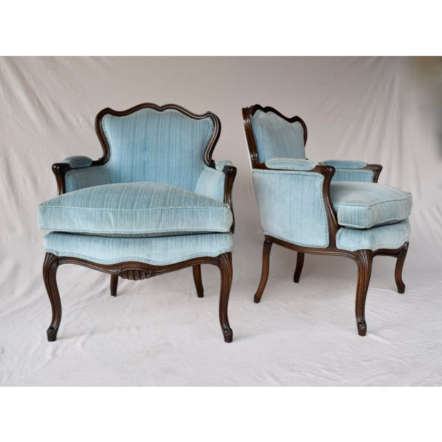 Pair of French Provincial Berger'e Chairs For Sale - Image 12 of 12