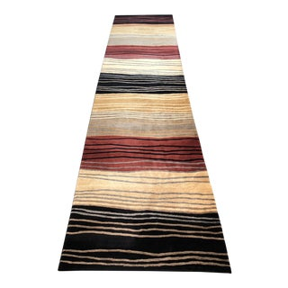 Contemporary Tufenkian Tibetan Highland Wool Runner Rug - 3′2″ × 14′6″