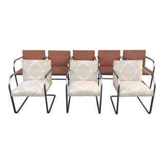 1970s Vintage Knoll Brno Dining Chairs - Set of 8 For Sale