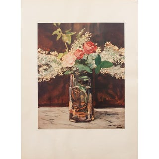 """1950s Édouard Manet, First Edition Lithograph """"White Lilac and Roses"""" For Sale"""