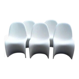 "Verner Panton ""S"" Chairs - Set of 5 For Sale"