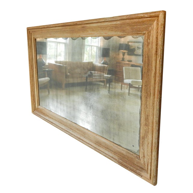 Late 19th Century Large Distressed Wood Frame Mirror For Sale - Image 5 of 6