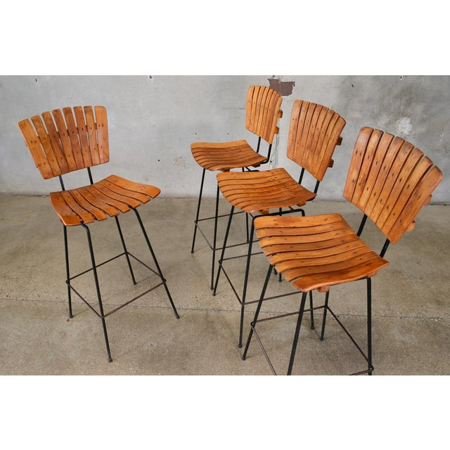 Arthur Umanoff Bar Stools- Set of 4 - Image 3 of 6