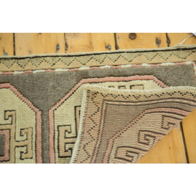 "Vintage Turkish Oushak Runner - 1'8"" x 2'9"" For Sale - Image 5 of 6"