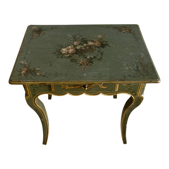 19th Century Hand Painted Side Table For Sale