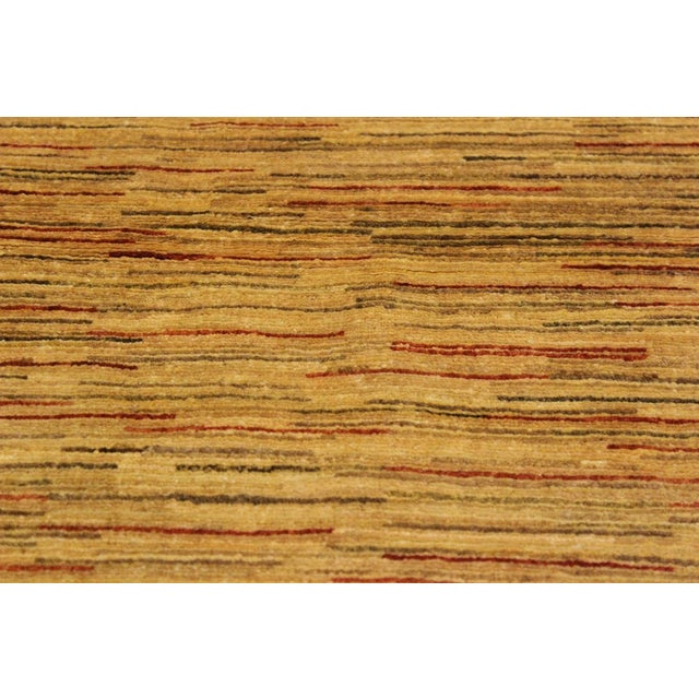Gabbeh Jacqueline Tan/Rust Wool Area Rug -4'3 X 5'9 For Sale - Image 4 of 8
