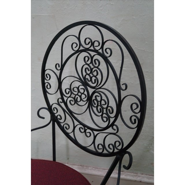 5-Piece Scrolled Iron Bistro Dining Set - Image 5 of 10