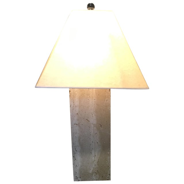 Modern Travertine Table Lamp - Image 1 of 8