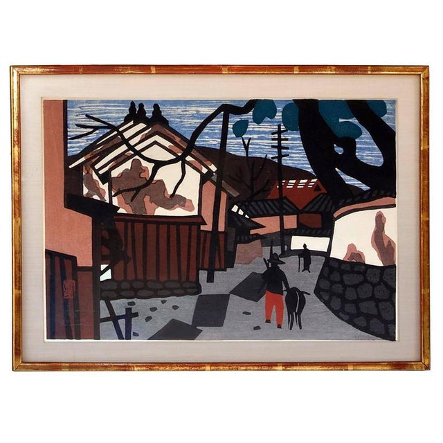 Kiyoshi Saitō 1950s Vintage Kiyoshi Saito Wood Block Prints - A Pair For Sale - Image 4 of 6