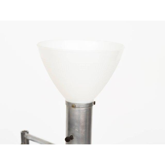Walter Von Nessen Style Brushed Aluminium Swing Arm Floor Lamp For Sale In New York - Image 6 of 9