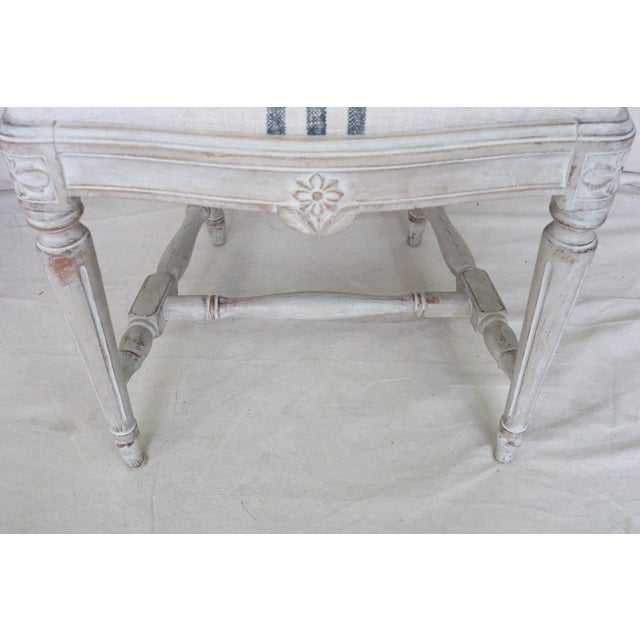 White Mid 19th Century Swedish Gustavian Dining Chairs, Set of 6 For Sale - Image 8 of 13