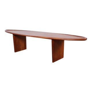 Walnut Surfboard Coffee Table by t.h. Robsjohn-Gibbings