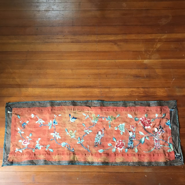 Tapestry - Chinese Vintage Silk - Image 8 of 8