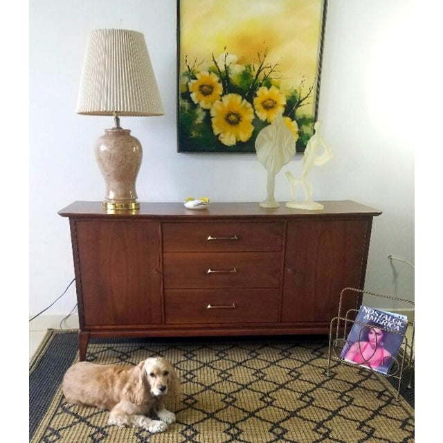 Vintage Walnut Sideboard / Credenza For Sale - Image 11 of 11