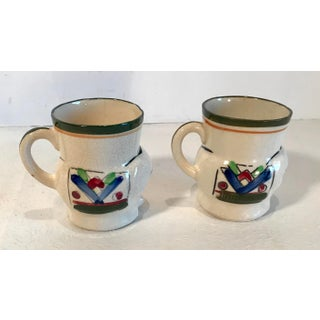 Vintage Japanese Hand Painted Figural Elephant Mugs - a Pair Preview