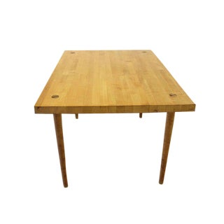 Modern Industrial Thick Butcher Block-Top Work Table For Sale