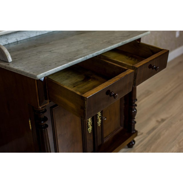 19th Century Basin Cabinet Veneer with Walnut For Sale - Image 10 of 13